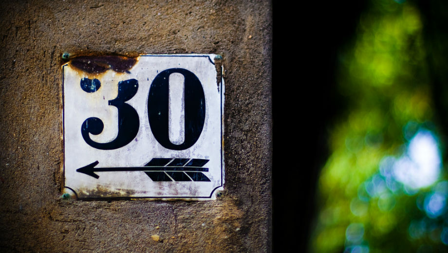 30 (CC BY 2.0 by Andreas Levers/https://www.flickr.com/photos/96dpi/2530788268)
