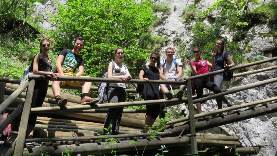 Erasmus incoming students  hiking trough Bärenschutklamm