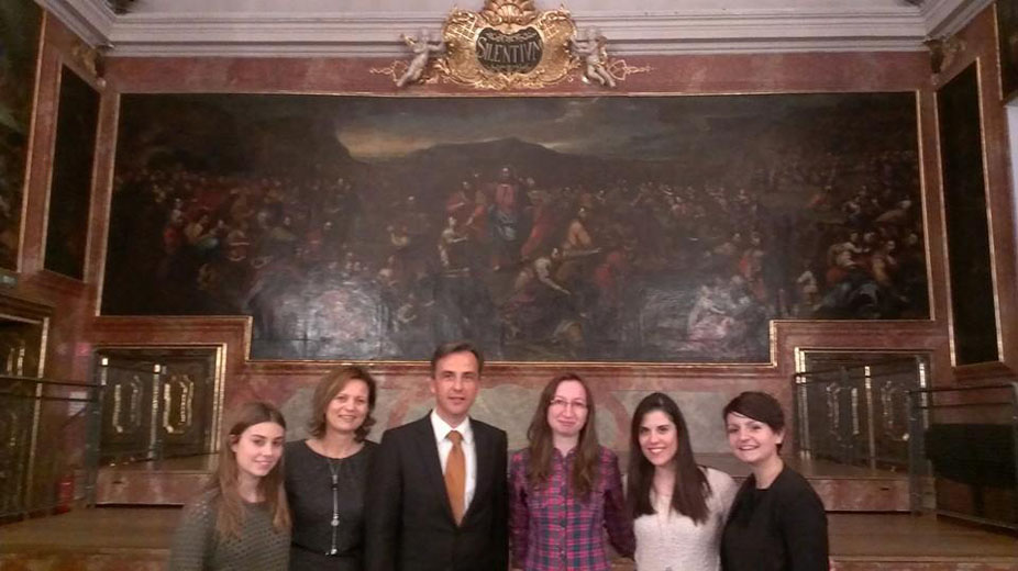 Erasmus incomings students, Susanne LInhofer, Marlene Grabner and Siegfried Nagl (image Chiara Cicchese)