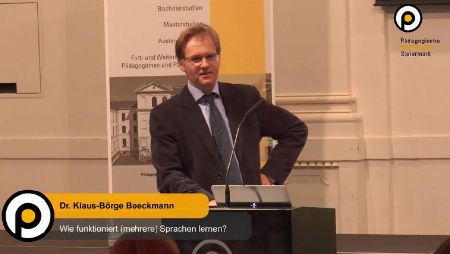 Dr. Klaus-Börge Böckmann (Foto: G. Gössler, W. Kolleritsch, M. Teufel/ PHSt)