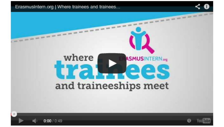 ErasmusIntern Video (Foto Screenshot)