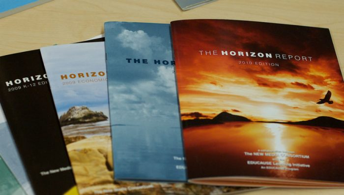 Horizon Report (Alan Levine CC by 2.0 https://www.flickr.com/photos/cogdog/4428109317/)