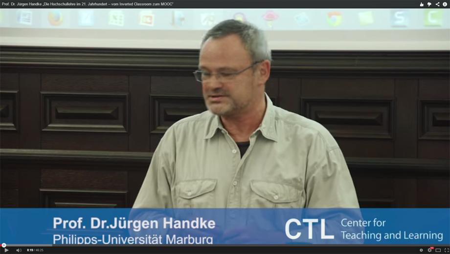 Prof. Jürgen Handke (Foto Screencopy)