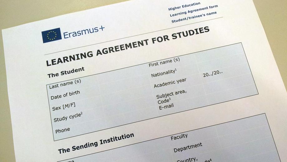 Erasmus Revised Learning Agreement Erasmus Journal