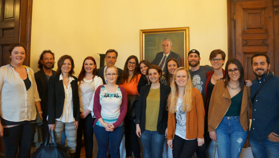 Group picture with the mayor of Graz (Photo by Tineri Rodriguez Tejera)