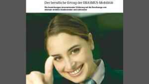 Der berufliche Ertrag der ERASMUS-Mobilität (Screencopy des Covers)