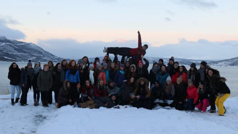 Gruppenfoto in Schweden (Foto von Christina Blumauer)
