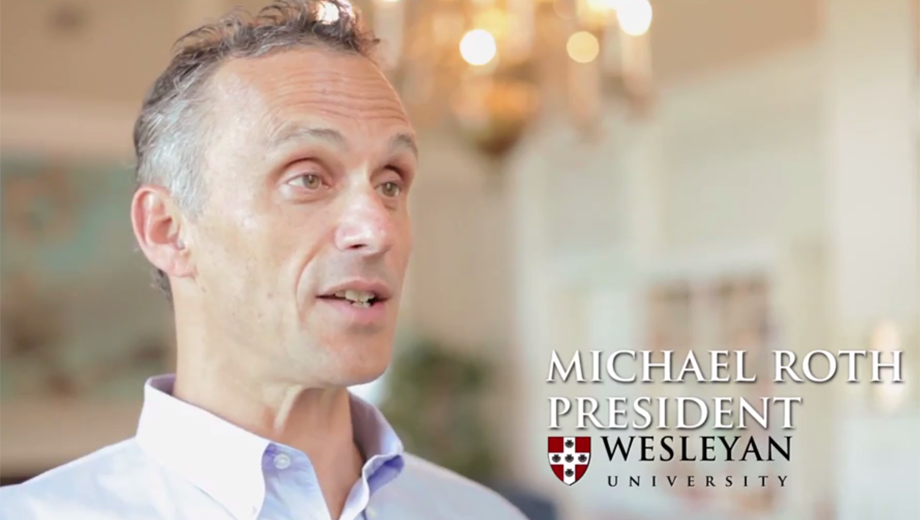 Michael Roth. President of Wesleyan University