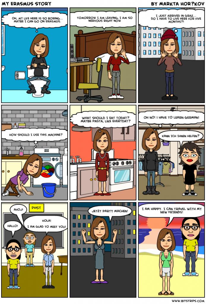 Erasmus Comic (CC BY Anna Balsera , Michelle Goossens and Markéta Horáčková)