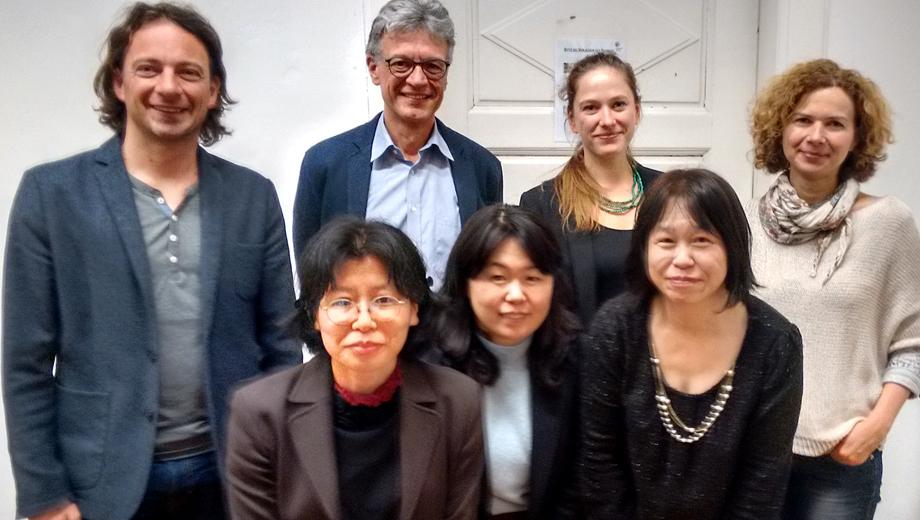 Heiko Vogl, Franz Rauch, Nora Luschin-Ebengreuth, Sabine Baumer (2. Reihe v.l.n.r) Miwako Hayashi, Tomoe Kawasaki, Kaori Yokoyama (1. Reihe v.l.n.r)