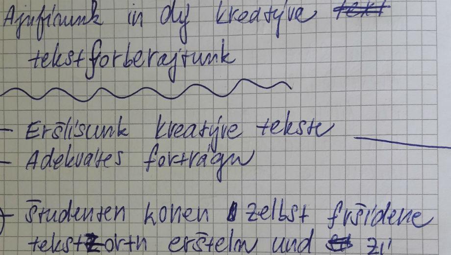 So würde man Deutsch auf Tschechisch schreiben... (Foto von Ursula Rettinger)