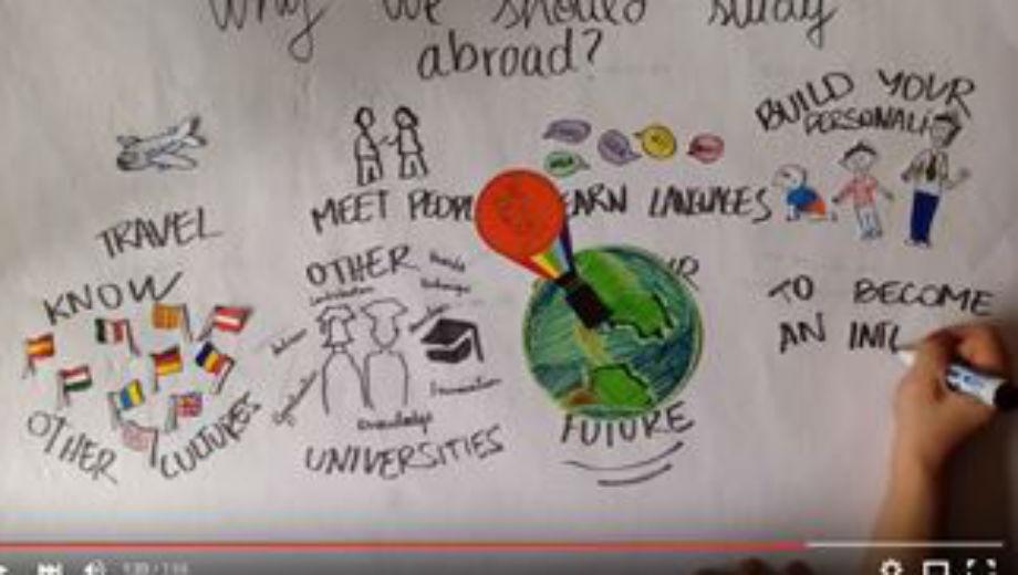 Erasmus-video (Foto Screenshot von Youtube)