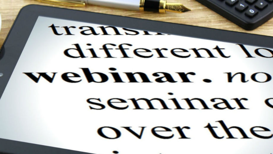 Webinar (CC BY-SA 3.0 NY/http://thebluediamondgallery.com/w/webinar.html)